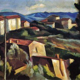 View Near Sienna - 1925